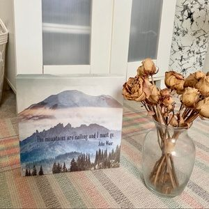 "10"" canvas mountains print wall art"